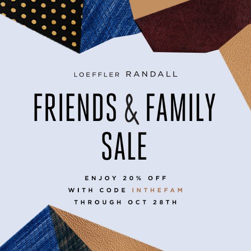 Shop the Official Loeffler Randall Friends and Family Sale Online at www.LoefflerRandall.com