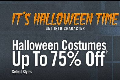 IT'S HALLOWEEN TIME - HALLOWEEN COSTUMES UP TO 75% OFF†