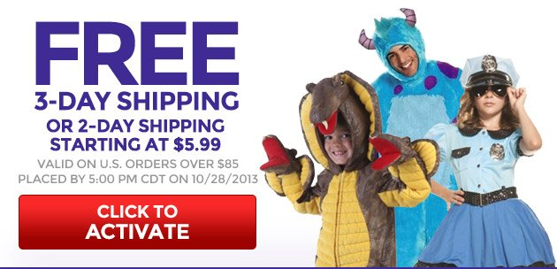 Free 3-Day Shipping or 2-Day Shipping Starting at $5.99