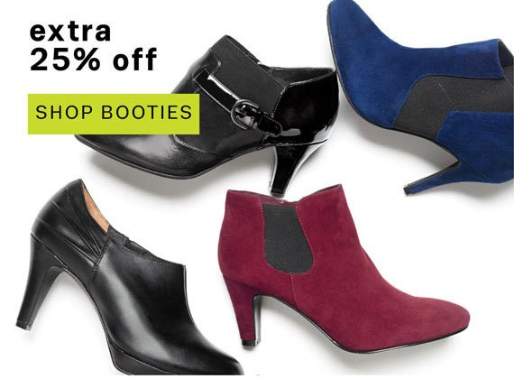 Get an extra 25% off booties now