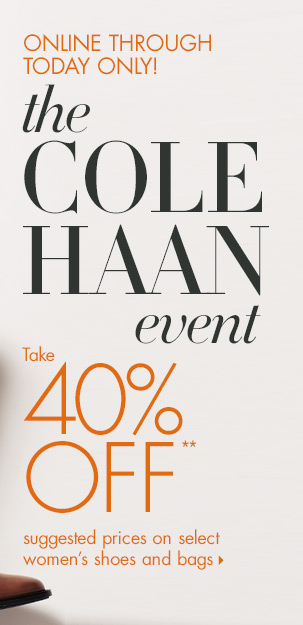 Today only: 40% off Cole Haan