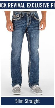 Men's Rock Revival Slim Straight