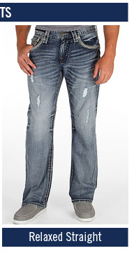 Men's Rock Revival Relaxed Straight