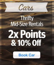 Thrifty Mid-Size Rental Deals - 2X Points & 10% Off