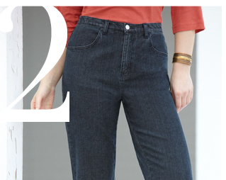 Stretch Denm Boot Cut Jeans by Ulla Popken
