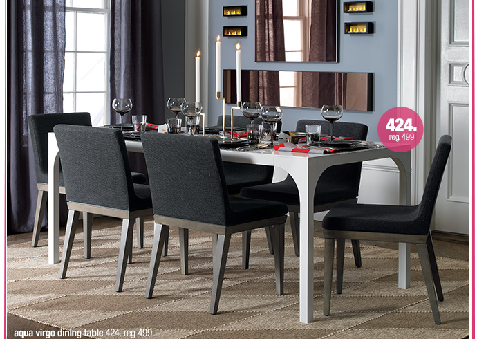 aqua virgo dining table 424. reg 499.