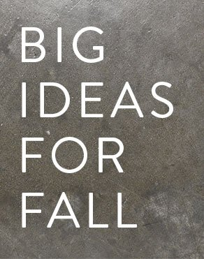 BIG IDEAS FOR FALL