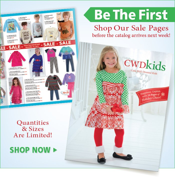 Be the First to Shop our latest Catalog Sale Pages Online
