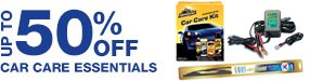 UP TO 50% OFF CAR CARE ESSENTIALS