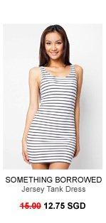 SOMETHING BORROWED Jersey Tank Dress