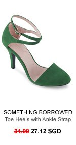 SOMETHING BORROWED COLLECTION Almond Toe Heels with Ankle Strap