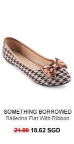 SOMETHING BORROWED COLLECTION Houndstooth Print Ballerina Flat With Ribbon