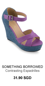 SOMETHING BORROWED COLLECTION Contrasting Espadrilles Wedges