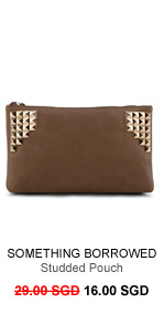 SOMETHING BORROWED Studded Pouch
