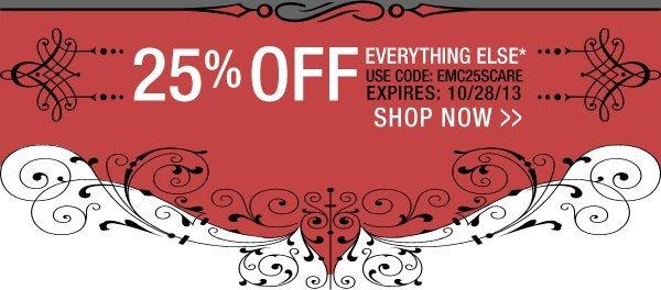 25% Off Regular Prices