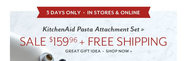 Save $90 on the KitchenAid Pasta Attachment: Great for Gift Giving