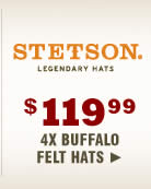 Shop Stetson 4X Buffalo Hats