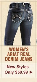 All Womens Ariat Real Denim Riding Jeans on Sale