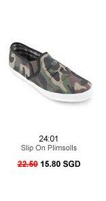 24:01 Slip On Plimsolls