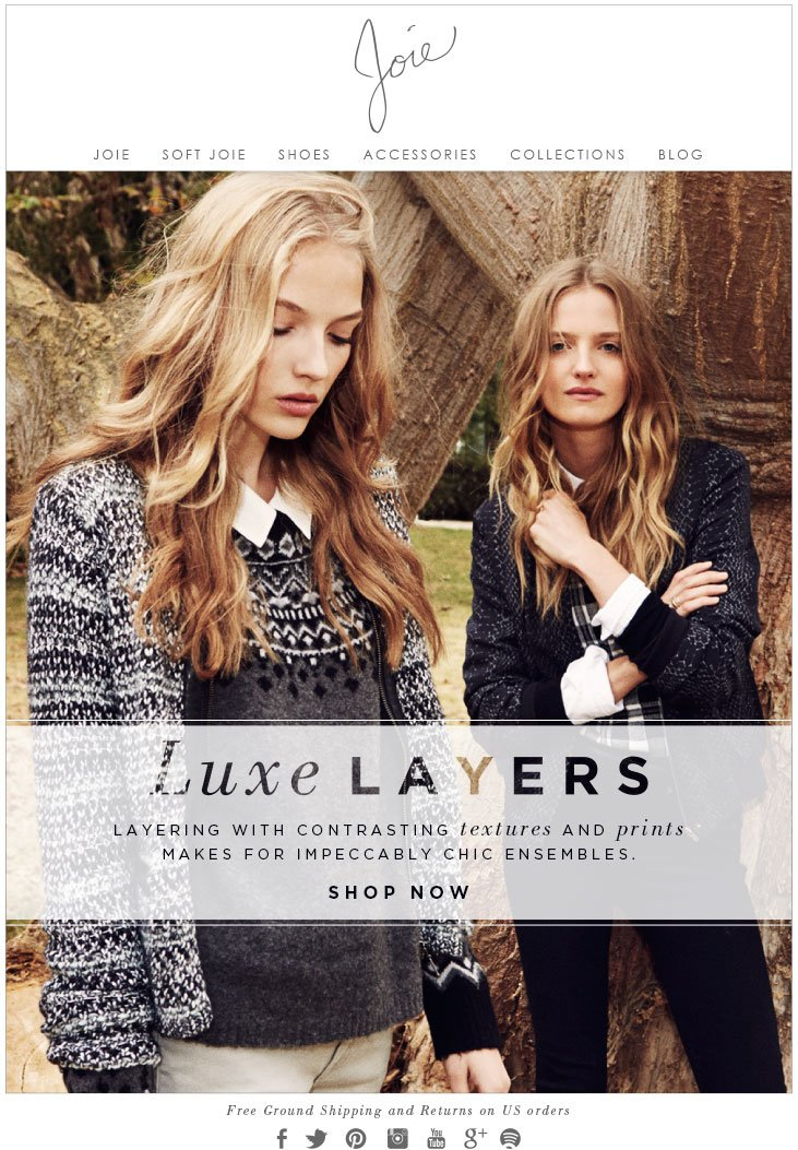 Luxe LAYERS LAYERING WITH CONTRASTING textures AND prints MAKES FOR IMPECCABLY CHIC ENSEMBLES. SHOP NOW