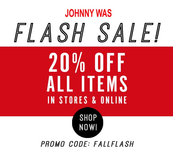 Flash Sale! 20% off all items!