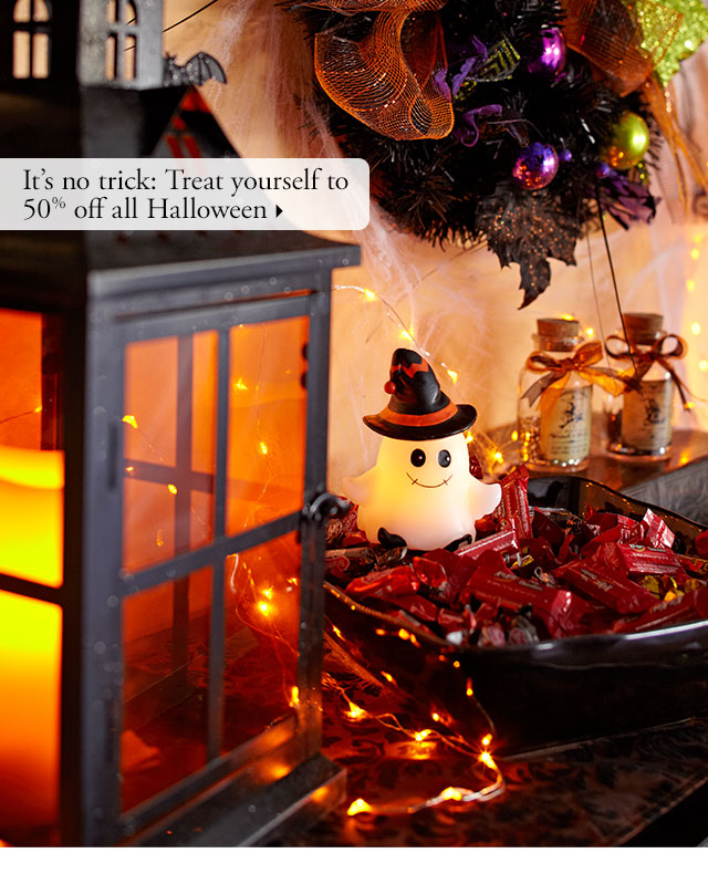 It's no trick: Treat yourself to 50% off all Halloween