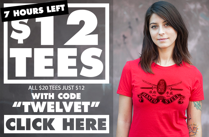 $12 TEES with code TWELVET - CLICK HERE
