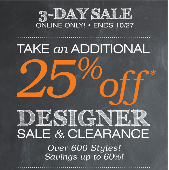 Shop Select Designer Clearance 25% off