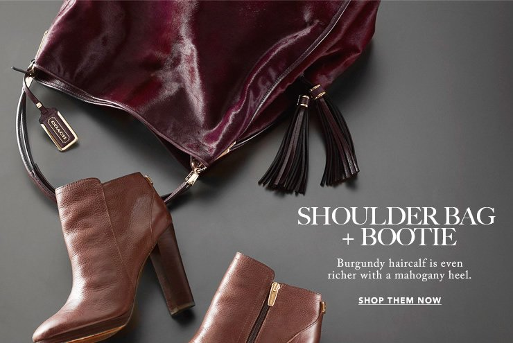 shoulder bag + bootie
