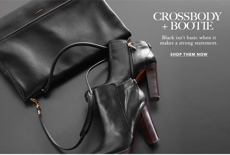 crossbody + bootie