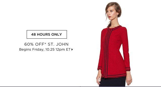 60% Off* St. John...Shop Now