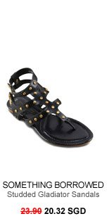 SOMETHING BORROWED COLLECTION Studded Gladiator Sandals