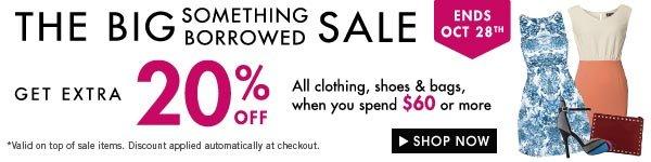 Get extra 20% off Something Borrowed