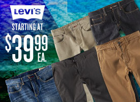 Denim & Chinos: Levi's start at $39.99!