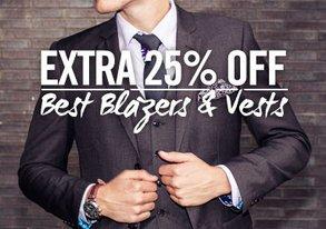 Shop EXTRA 25% Off: Best Blazers & Vests
