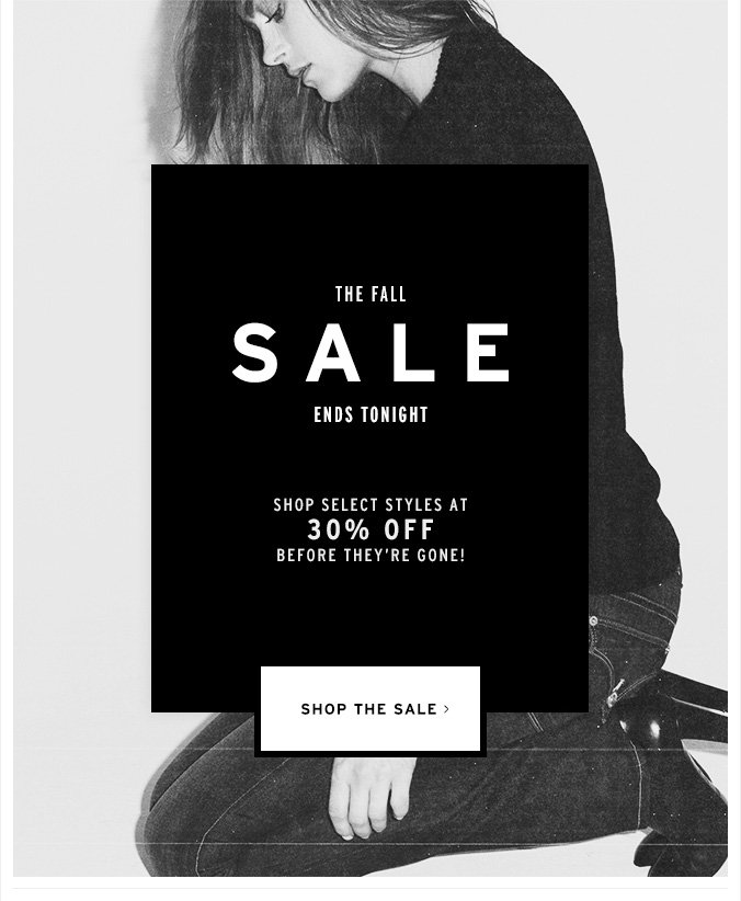 Only Hours Left - 30% off Select Styles