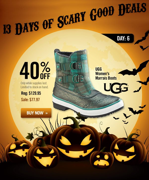 13 Days of Scary Good Deals - Day 6: UGG Women's Marrais Boots