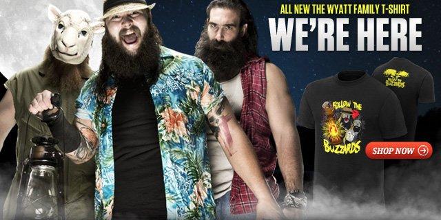 """Brand New: Wyatt Family """"We're Here"""" Authentic T-shirt"""