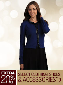 Extra 20% off Select Clothing, Shoes & Accessories**