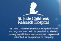 St. Jude Children's Research Hospital | St Jude Children's Research Hospital's nameand logo are used with its permission, which inno way constitutes an endorsement, expressed or implied, of any product or company.