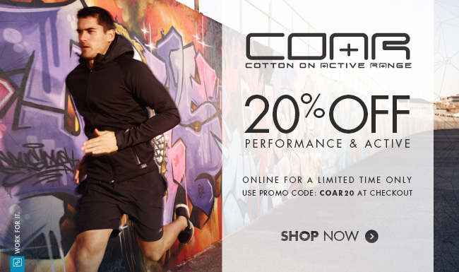 20% Off Performance & Active Training Tops