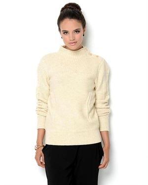 Ivanka Trump Button Sweater