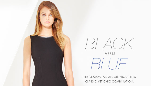 BLACK MEETS BLUE | THE SEASON WE ARE ALL ABOUT THIS CLASSIC YET CHIC COMBINATION.