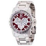 Invicta 0347 Men's Reserve Speedway Red Dial Chronograph Dive Stainless Steel Watch