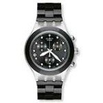 Swatch SVCK4035AG Men's Full Blooded Black Ion Plated Stainless Steel Bracelet Chronograph Watch
