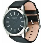 Freestyle 101063 Men's Shark Orion Black Dial Skate Fashion Black Leather Strap Watch