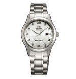 Orient NR1Q004W Women's Charlene Stainless Steel White Dial Automatic Crystal Watch