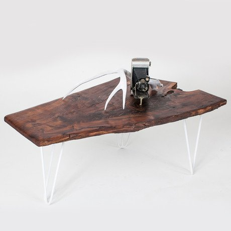 Claro Walnut Slab Coffee Table
