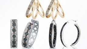 Diamond Accent Hoop Earrings and more