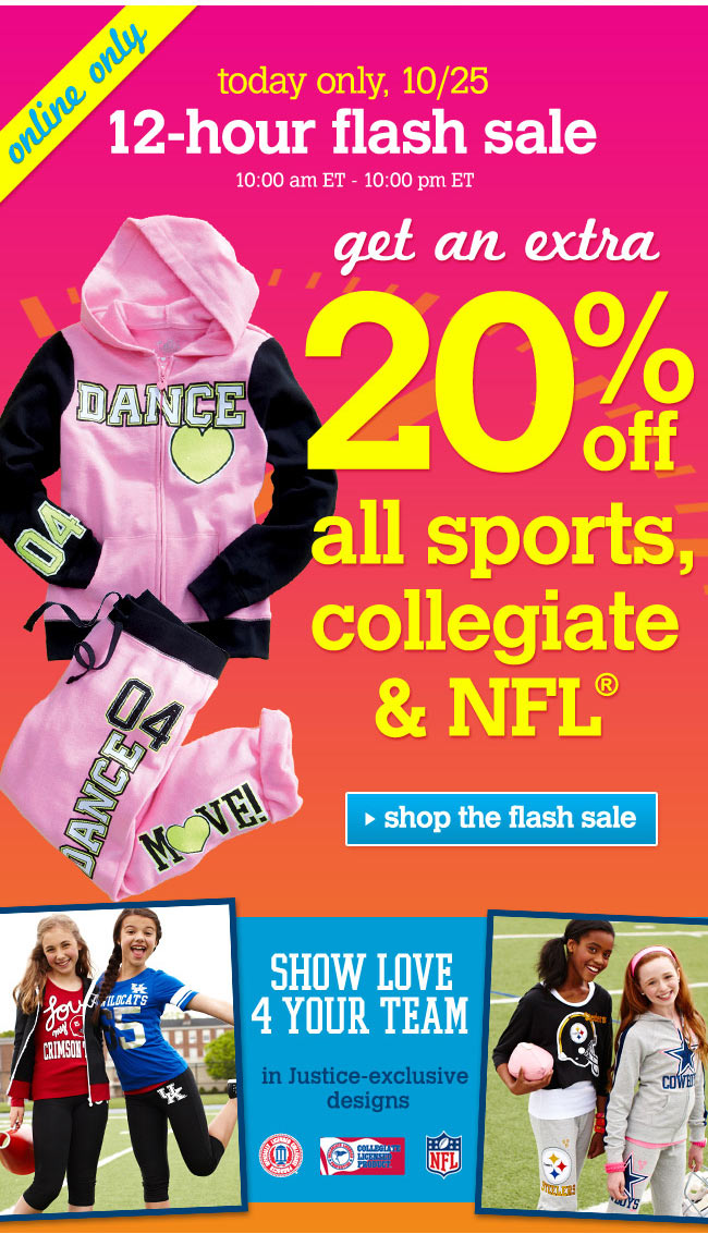 Extra 20% off sports gear
